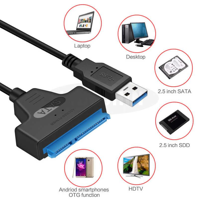 Usb 3.0 アダプタセンターサポート 2.5 インチ外部 ssd hdd ハードディスクドライブ 22 ピン sata iii ケーブル sata usb ケーブル sata usb sata 3.0 アダプタ