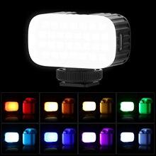 Ulanzi VL15RGB מיני RGB LED וידאו אור על מצלמה למלא אור מובנה סוללת ליתיום עם קר נעל הר מפזר עבור Vlog