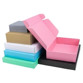 Caja de papel kraft de 3 capas, caja de cartón para regalo, tamaño personalizado, con logotipo impreso, 5 uds./10 uds./caja de papel kraft, venta al por mayor