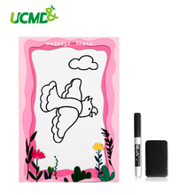 A5 Size Magnetic Whiteboard Sticker For Fridge Refrigerator Erasable Board Marker Writing Record Message Memo Note Pad