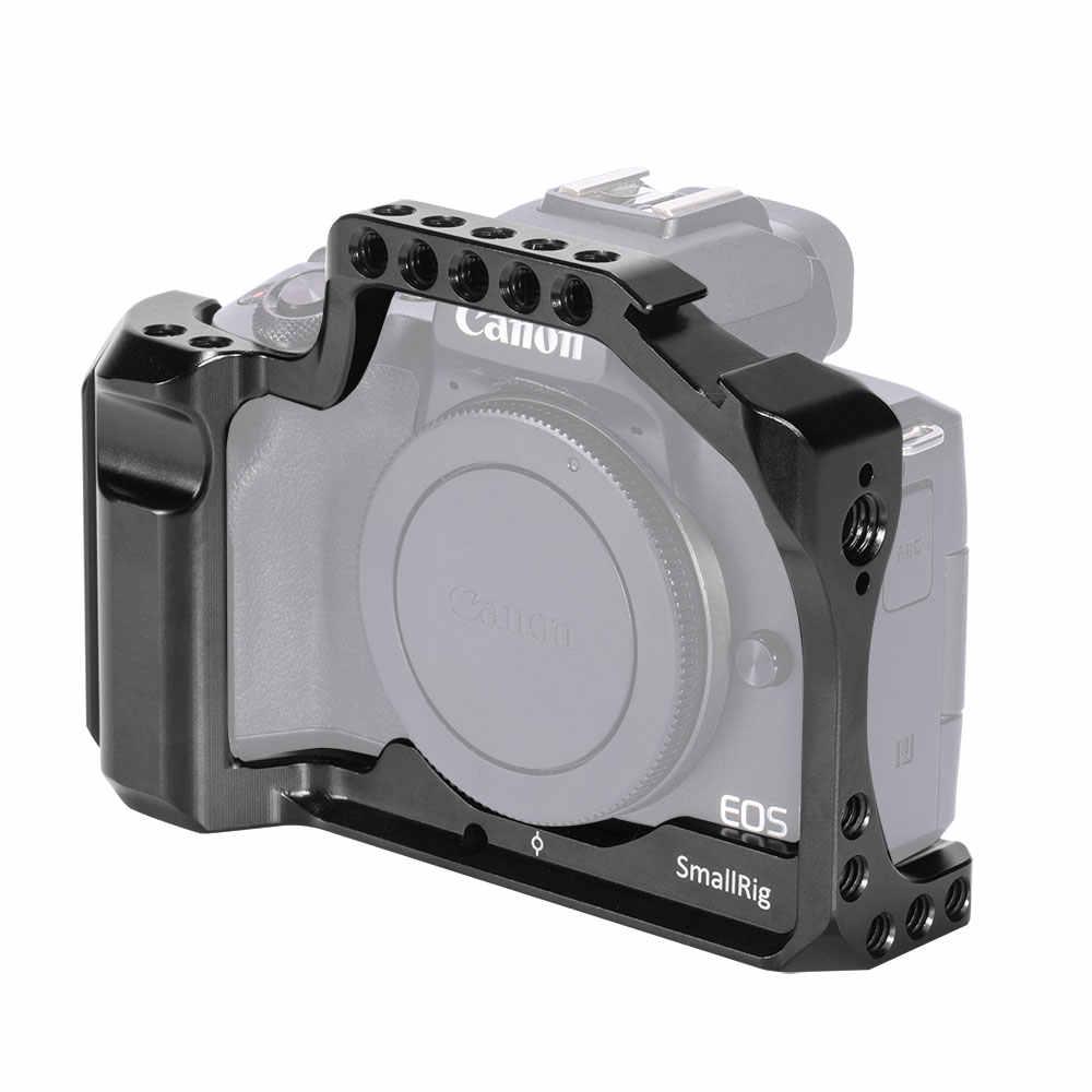 SmallRig DSLR Cage Fotocamera per Canon EOS M50 / M5 Gabbia Con La Nato Ferroviario Fredda Shoe Mount Per Il Rilascio Rapido allegato 2168