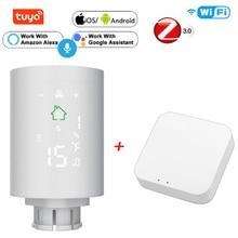 Tuya ZigBee3.0 Smart Radiator Actuator Programmable Thermostatic Radiator Valve Temperature Controller Via Voice Control