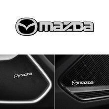 Uds coche 3D de metal de aluminio de audio decorar emblema pegatinas para Mazdas 5 6 323 626 RX8 7 MX3 MX5 Atenza universal de accesorios para automóviles