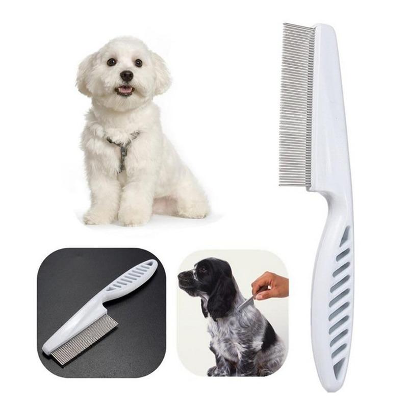Защитная Расческа для блох для кошек, собак, домашних животных, из нержавеющей стали, удобные инструменты для ухода за блошами, щетка для осл...