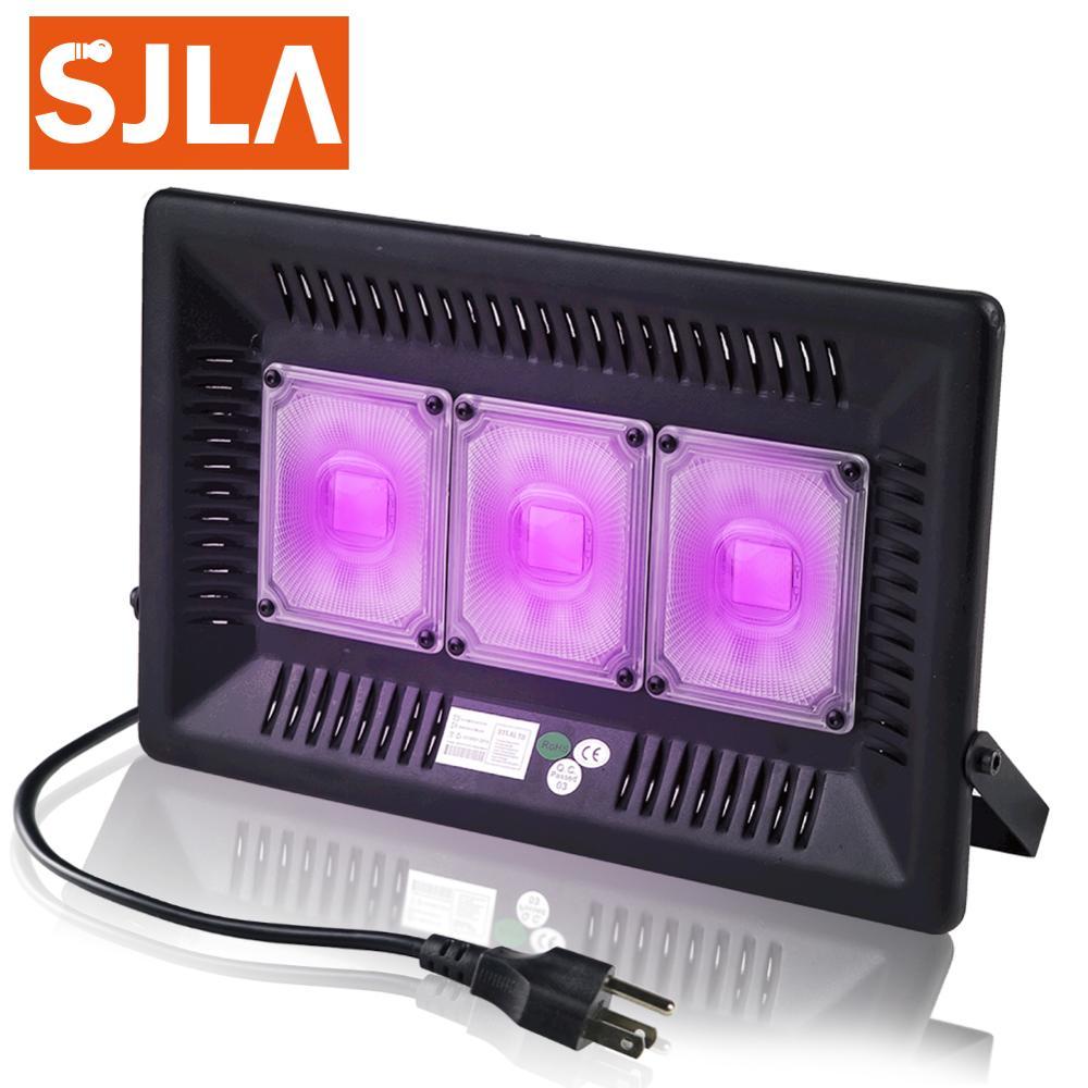 Светодиодный светильник для дискотеки, Dj, УФ лампа, ультрафиолетовая, черная, лазерная, вечерние, KTV, на Рождество, Хэллоуин, точечный светильник, дымовая машина, вилка