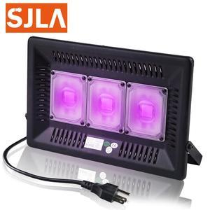 Image 1 - Luz LED para discoteca Dj, lámpara UV con efecto de escenario, ultravioleta, negro, Par, fiesta láser KTV, Navidad, Halloween, foco, enchufe para máquina de humo