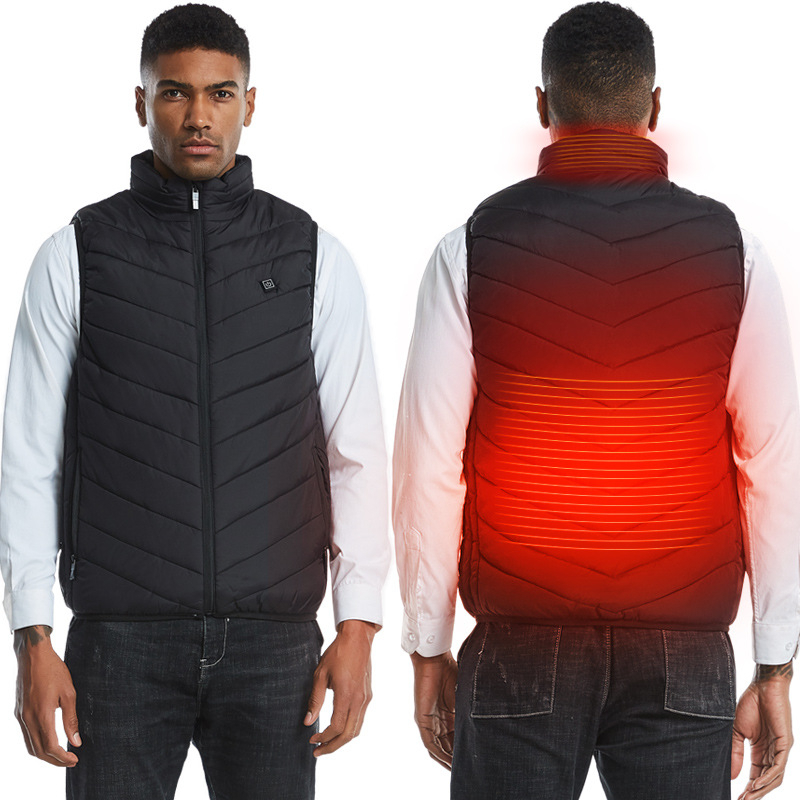 Hot Sale Winter Heating Waistcoat Super Warm Clothing Multifunction USB Electric Heated Vest Outdoor Camping Hiking Jacket