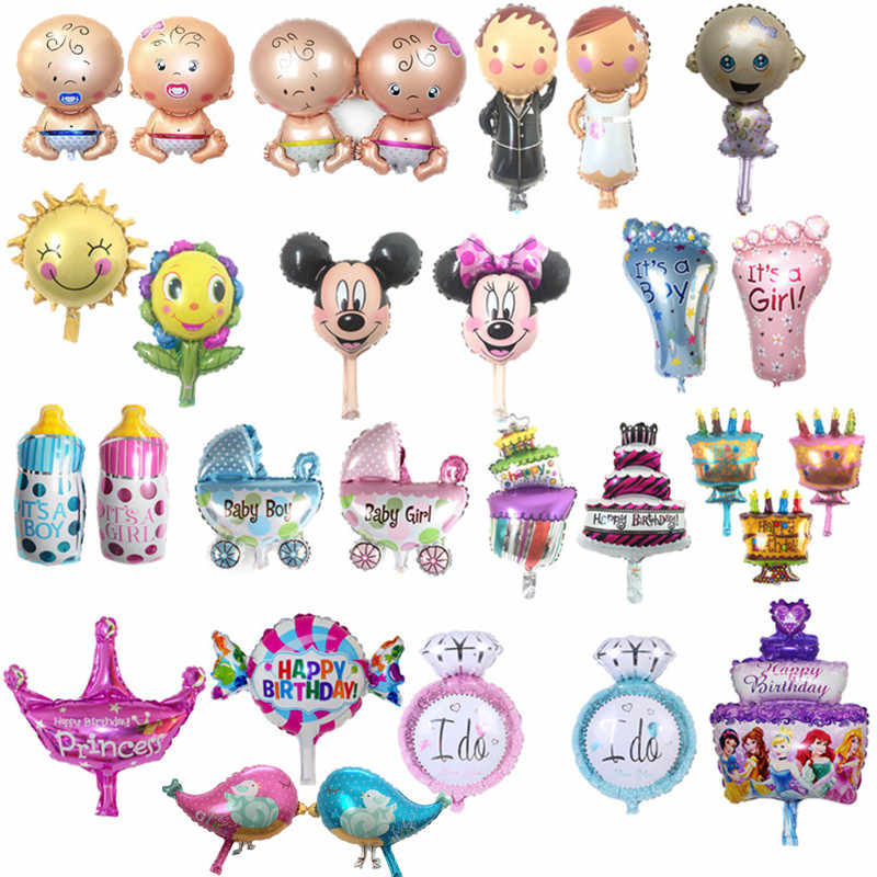 Mini Boy, girl ,animal balloons children Baby aluminum helium balloon birthday party decoration ball classic toys