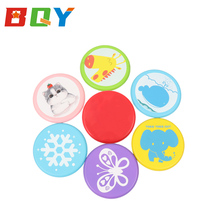 BQY Frisbee Kids Flying Disc Toy Outdoor Playing Lawn Game Disk Flyer for Kindergarten Teaching Soft Silicone Colorful