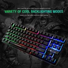 Moda sete-color teclado retroiluminado k16 87 teclas 12 teclas multimídia para pc/portátil frete grátis gaming