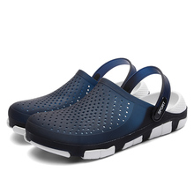 New Summer Jelly Shoes High Quality Men's  Shoes Fashion Beach Sandals Hollow Slippers Men Flip Flops Light Sandals