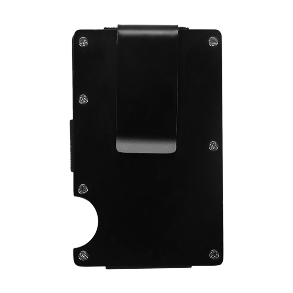 Black Anti Degaussing Credit Card Box Automatic Bank Card Holder Male And Female Business Card Clip Stainless Steel Card Clip