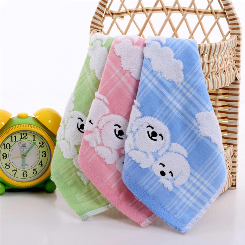30*30cm Cotton High Quantity Baby Soft Hand Towel Baby Towel Infant Cartoon Small Dog Handkerchief Cute Children Towel