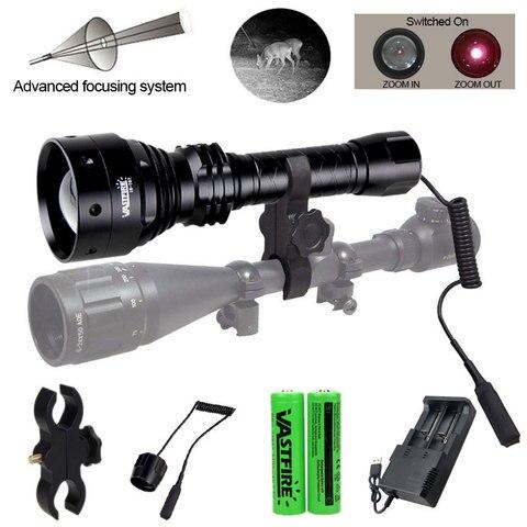tatico 850nm ir visao noturna iluminador 800 metros 70mm lente zoomable caca infravermelha predador luz