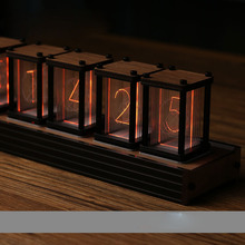 EleksTube Reloj de tubo Pseudo glow RGB, Kit DIY, decoración creativa de escritorio LED