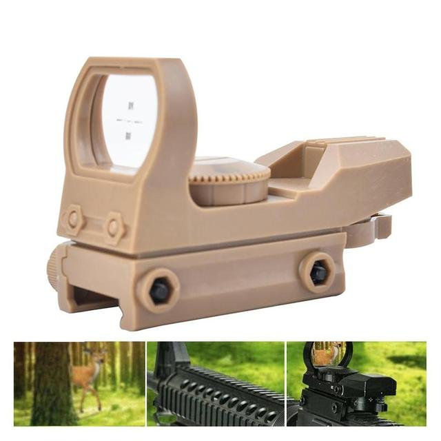 20mm Rail Riflescope Hunting Optics Holographic Green Dot Sight Reflex 4 Reticle Tactical Scope Collimator Sight Plastic Toy 4