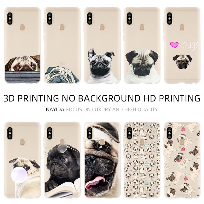 Phone Case <font><b>Cover</b></font> Soft For <font><b>Xiaomi</b></font> 9 8 <font><b>Mi</b></font> A1 <font><b>A2</b></font> A3 lite F1 6 5X se For Redmi Note 8 7 6 5 Puppies Cubs Dogs Poodle <font><b>Pug</b></font> Doggy image