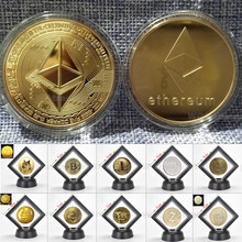 Ouro banhado a prata ethereum moeda réplica coleção de arte presente físico metal antigo imitação não-moeda réplica colecionáveis