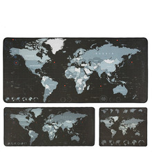 Gaming Mouse Pad Large Mouse Pad Big Mouse Mat Computer Mousepad Carved World Map Mause Pad Desktop Keyboard Mat Cushion
