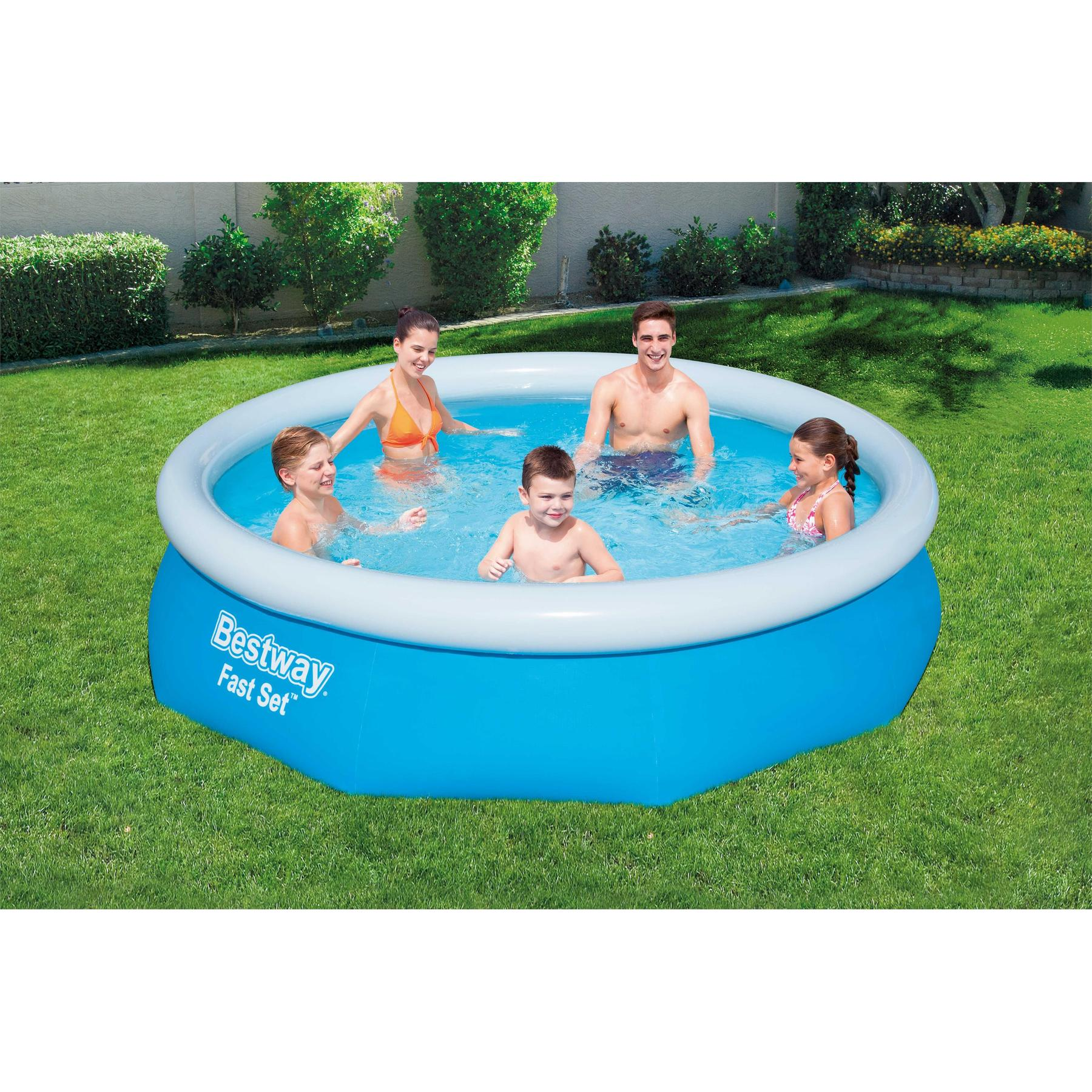 Round Pool Inflatable Children водораспорный Fast Set 305x76 Cm, 3638 L, Bestway, Item No. 57266