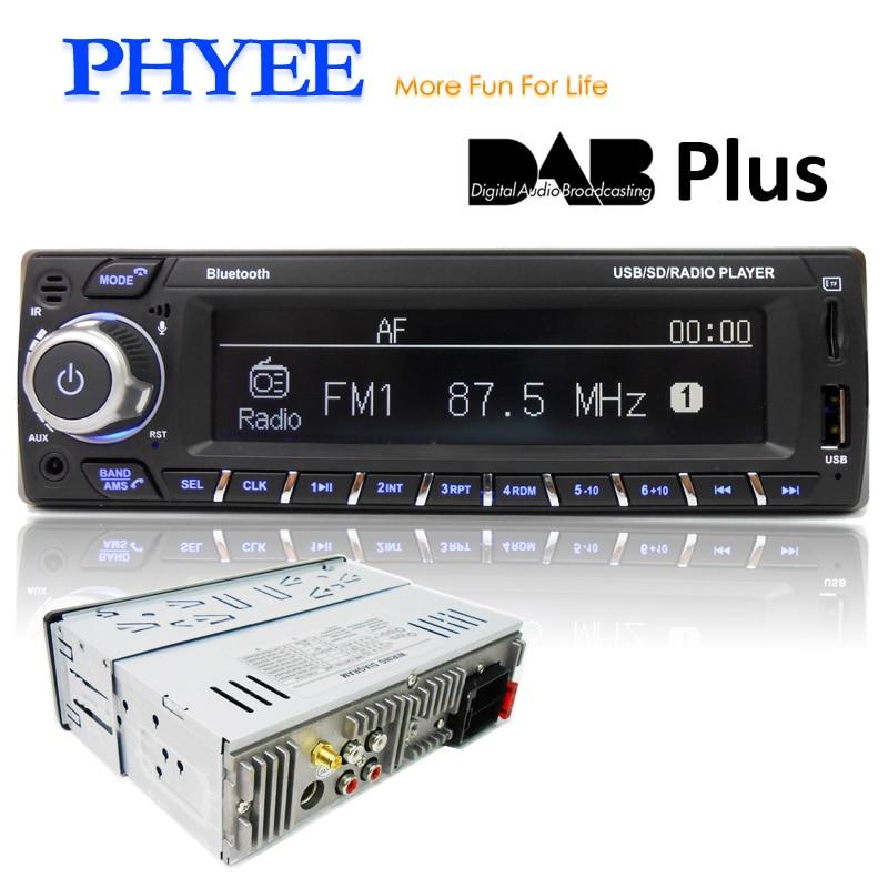 Bluetooth Car Stereo Radio MP3//WMA 1 DIN Handsfree Unit DAB+//USB//RDS AUX-IN
