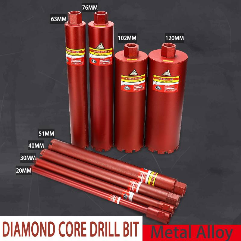 20/30/40/51/63/76/102/120mm Diamond Core Drill Bit For Concrete Stone Tap Water Heater Air Conditioning Toilet Pipe Hole Puncher