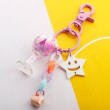 2019 Acrylic Cute Keychain Simulation Ice Cream Tassels Keyring Bag Pendant Couples Women Men Girl Gift