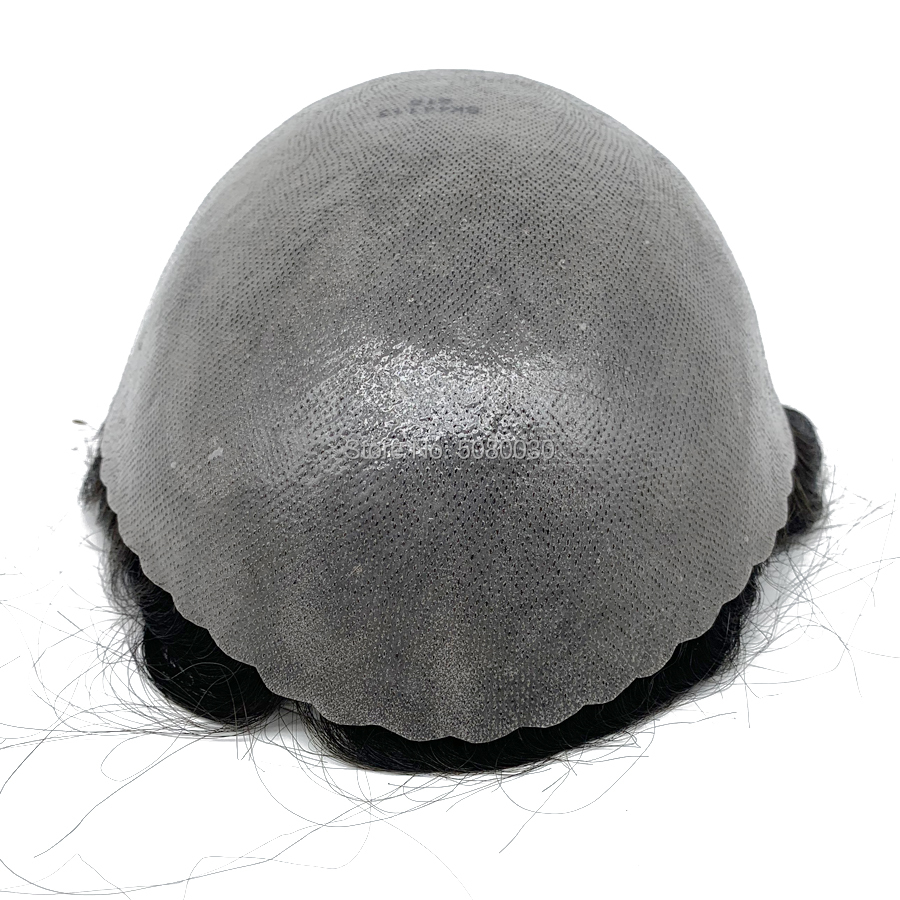 Skin PU Base Hairpiece Man Front Shell Skin Base Men Hair Toupee Poly Wig Human Hair Men Toupee Real Hair Men Wig