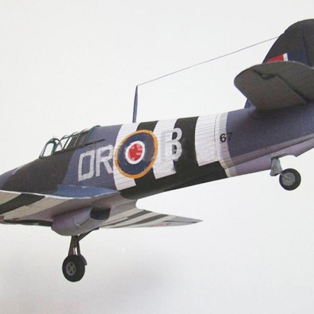 1:33 British Hurricane Fighter DIY 3D Paper Card Model Educational Toys Toys Sets Military Construction Building Model L2L7 6