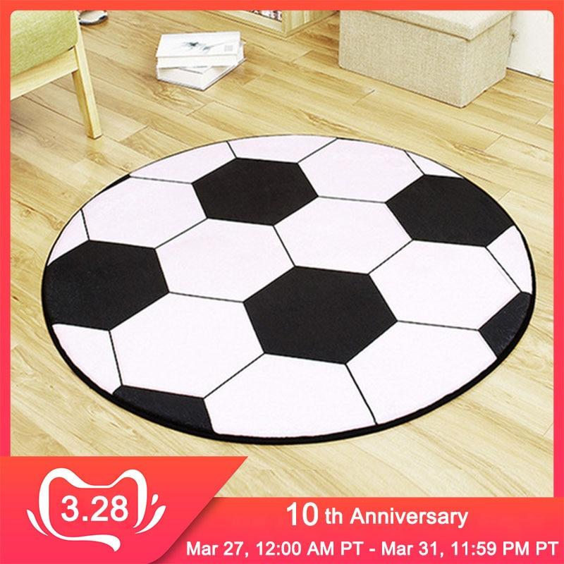 RFWCAK New Polyester Anti-slip Ball Round Carpet Computer Chair Pad Football Basketball Living Room Mat Children Bedroom Rugs