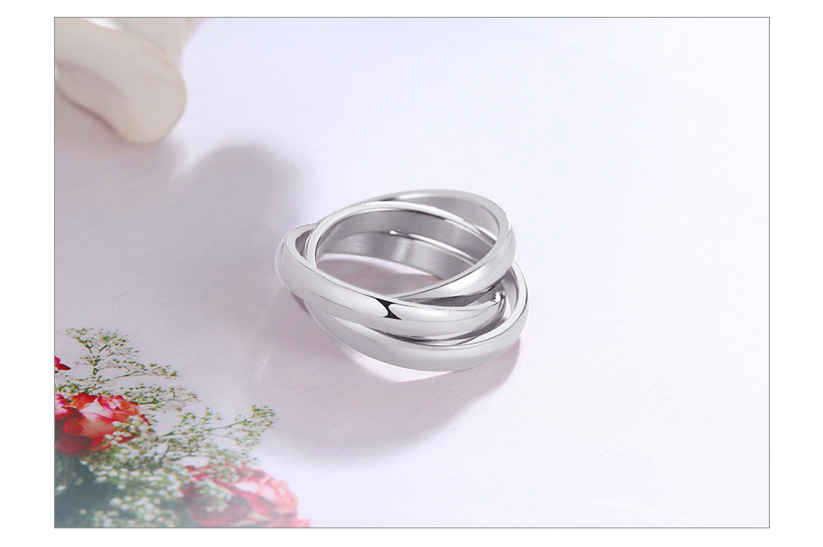 Three Layers Three Color Titanium Ring Size5-9 8