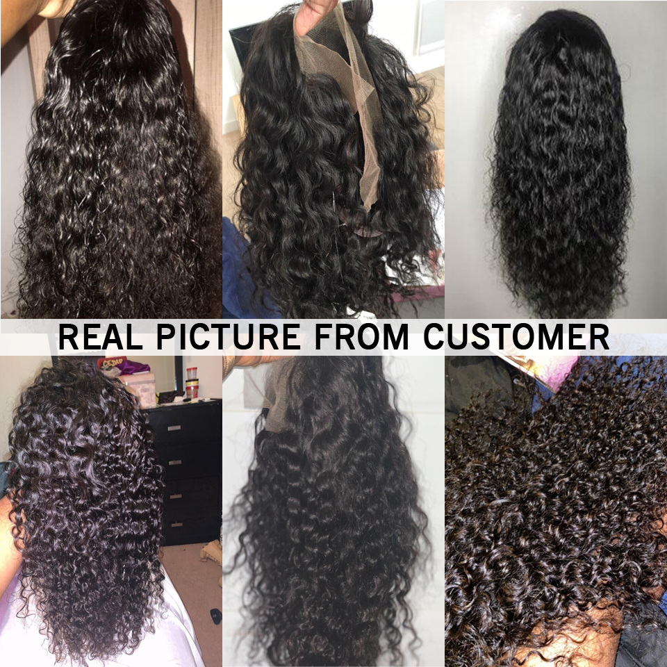 13X6 13X4 Lace Front Human Hair Wigs Pre Plucked 150 Density Remy Brazilian Deep Wave Curly Lace Front Wig For Black Women Pakistan
