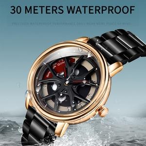 Image 5 - Men Watch Personality Car Wheel 360 Degree Rotating Waterproof Quartz Wristwatch Women SANDA Top Brand Luxury relogio masculino