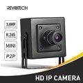 H.265 Мини HD 3MP IP-камера 1296P/1080P, металлическая внутренняя ONVIF P2P CCTV система видеонаблюдения, HD Черная Камера
