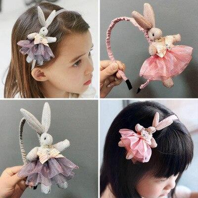 Children's Little Girl Bunny Headdress Princess Girl Super Cute Cute Hairpin Party Dress Up Children's Hair Band Headband