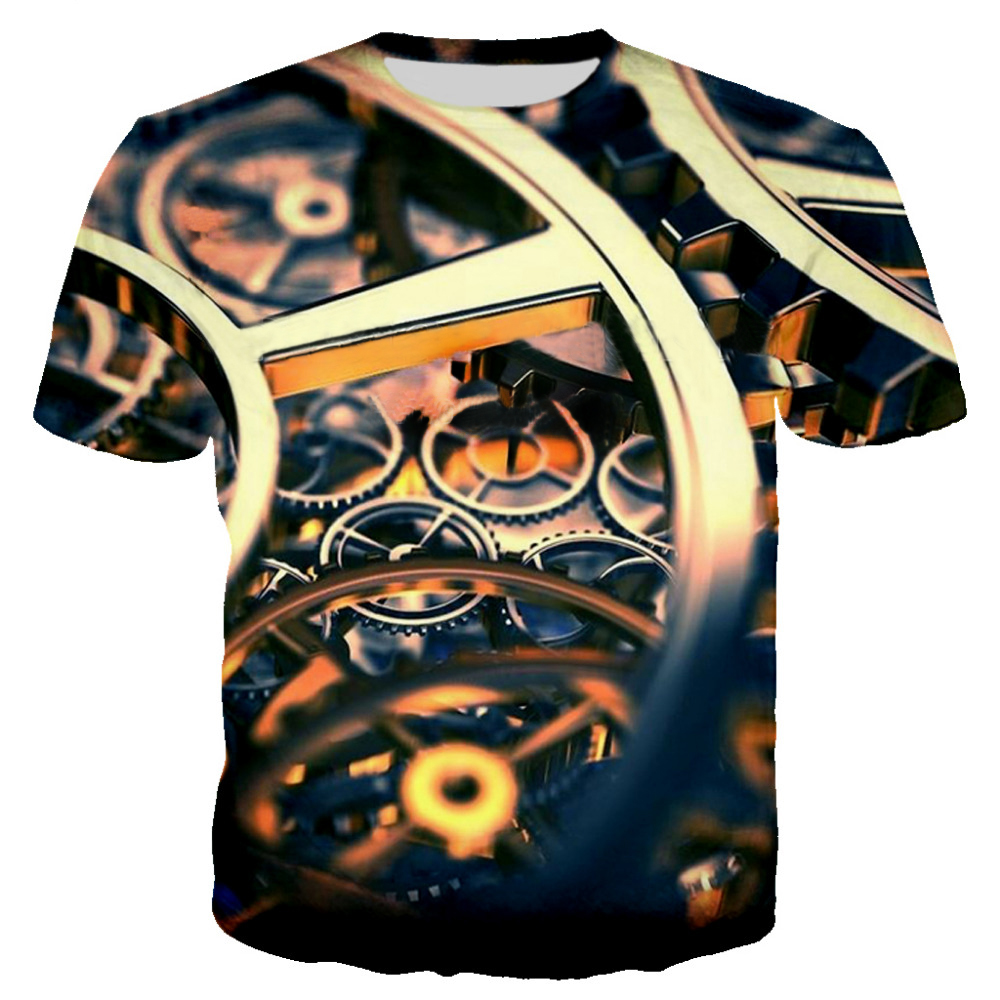 Мужская футболка с забавным принтом, Повседневная футболка с коротким рукавом и круглым вырезом, модная мужская 3D футболка/женская футболка, высокое качество, брендовая футболка - Цвет: T3-1