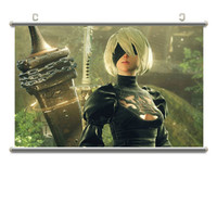 NieR:Automata YoRHa Type A No. 2 Poster Aluminum Alloy Scroll Painting Action Figure Model Dormitory Hang Picture X2529
