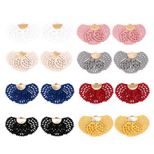 Aiovlo 10pcs/lot /cotton Tassel Bursh/Fan shape Jewelry/jewelry Making/DIY/hand Made Jewelry/Earring Tassels/Hollow Tassel