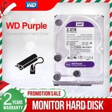 """ويسترن ديجيتال WD بنفسجي 2 تيرا بايت 3.5 """"مراقبة HDD 64MB SATA 6 جيجابايت/ثانية محرك الأقراص الصلبة الداخلي ل مسجل فيديو NVR WD20EJRX"""