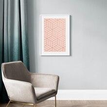 Настенная Картина на холсте розовые абстрактные градиентные