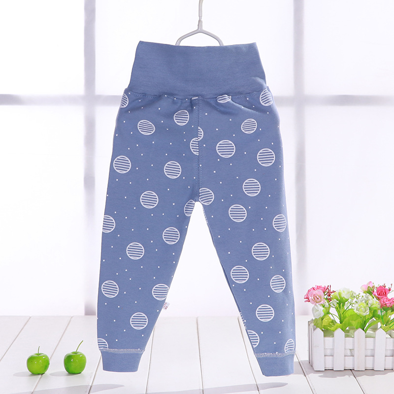 Autumn  Infant Trousers Baby Pants Newborn High Belly Striped Leggings Boy Gril Cotton Pants Inafnt Abdomen Protection Clothes