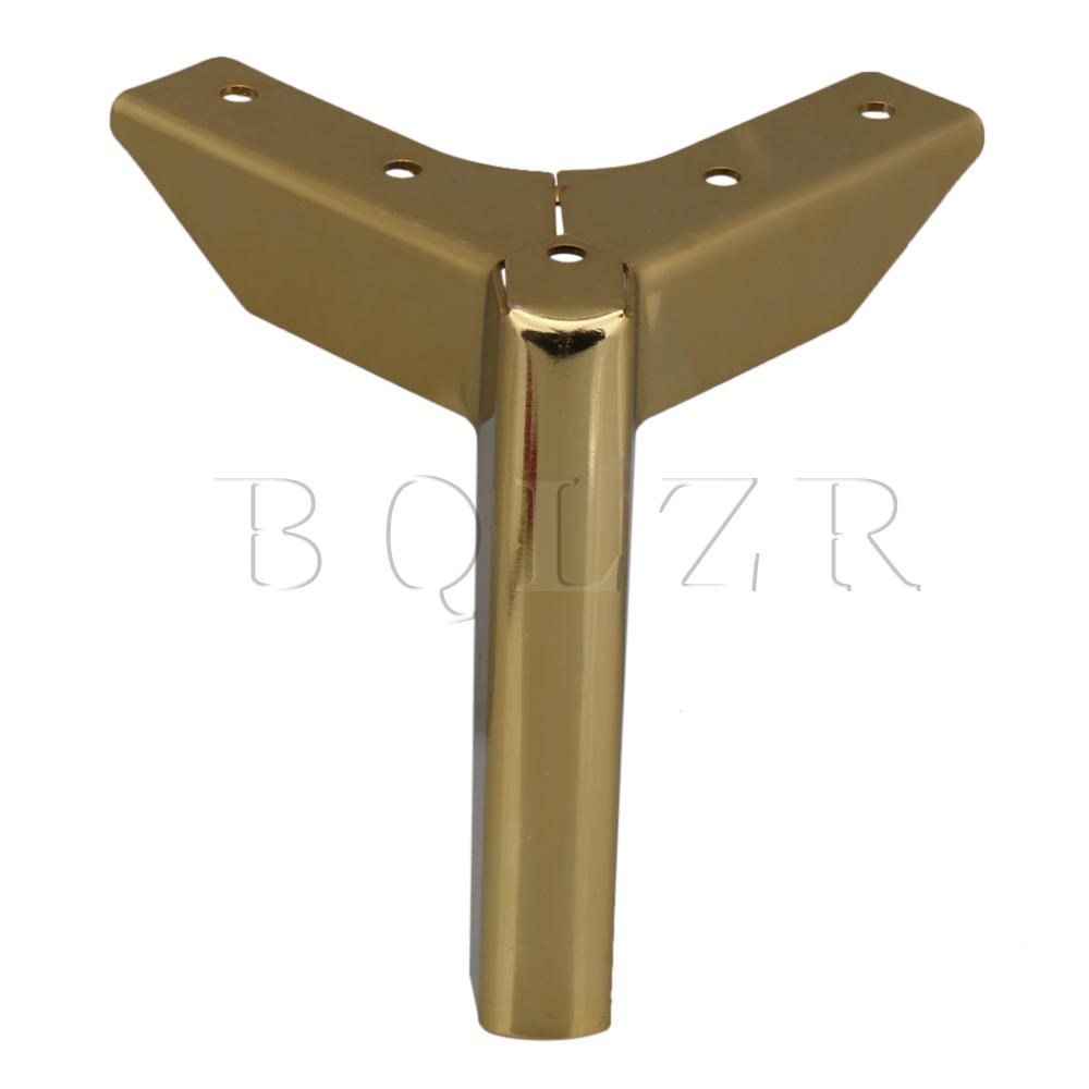 BQLZR Gold Metal Carbon Steel 12x8x4cm Furniture Legs For Sofa Coffee Table