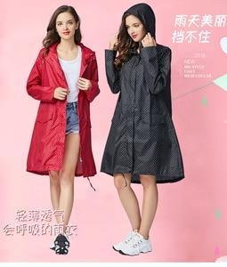 Image 5 - Freesmily Poncho de lluvia para mujer, impermeable, con capucha, mangas y bolsillo