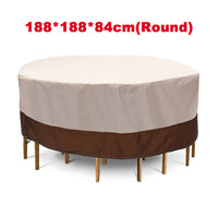 2 Shapes Waterproof Outdoor Garden Patio Furniture Covers Rain Snow Chair Covers for Sofa Table Chair Dust Proof Cover