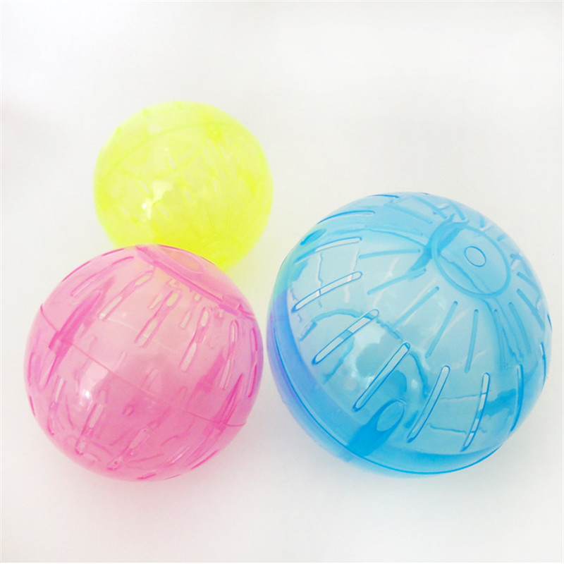 1pc Mini Colorful Pet Supply Plastic Round Ball Cute Small Animals Hamster Mice Toys For Exercising Jogging Interactive Toy