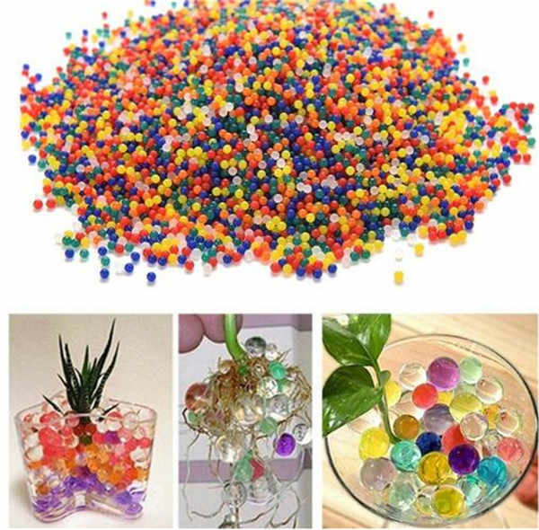 100 PC Pearl Shaped Hydrogel Crystal Soil Water Beads Bio Gel Mud plant Grow Magic Jelly Balls Orbiz For Flower Wedding Decor