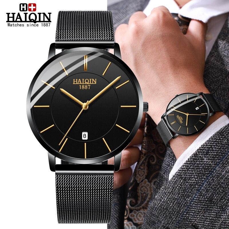 HAIQIN Men's Watches Fashion Mens Watches Top Brand Luxury Quartz Watch Men Dress Sports Men Watch Wristwatch Reloj Hombres 2019
