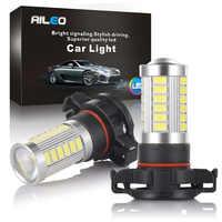 AIEO Car Fog Lamp PSX24W PS24W LED H16 5202 5201 Auto Bulb Fog light 5670 Chip 33 SMD 600LM 3000K white 6000K 1 year warranty