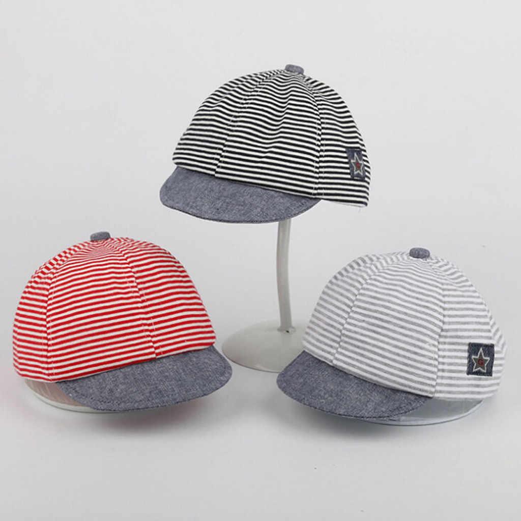 หมวกเด็กทารกเด็กวัยหัดเดินเด็กน่ารักแฟชั่นนุ่มสบายชายคาหมวกเบสบอลแบบสบายๆหมวก Beret หมวกหมวกลาย casquette enfant