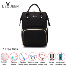 Lequeen Diaper Bags Waterproof Mummy Backpacks Large Capacity Travel Baby Nappy Bag Multi-function Infant Nursing Insulation Bag